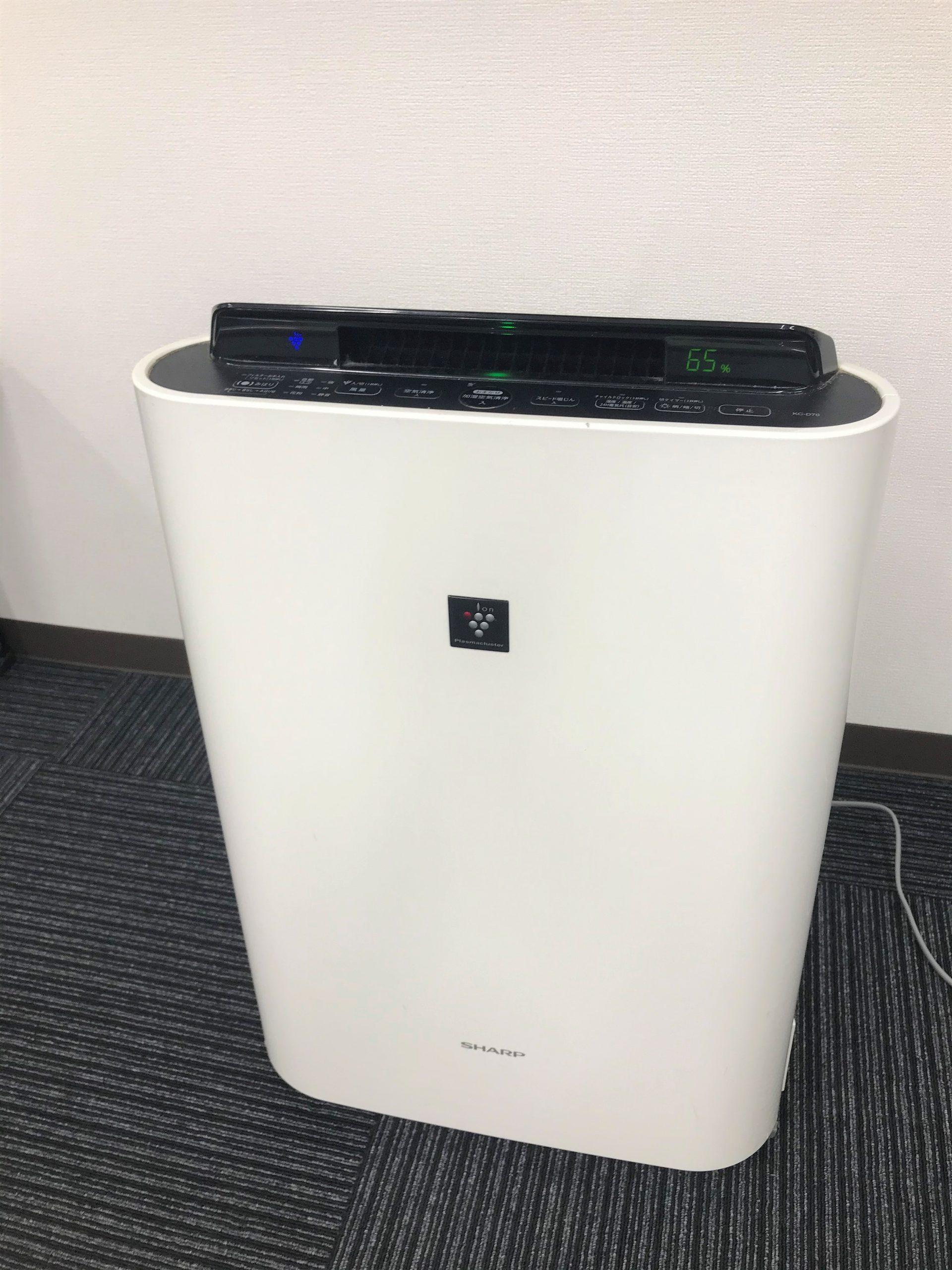【コロナ対策】プラズマクラスター空気清浄機を導入